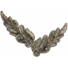 Motif Sequin/beads 26x8cm Leaf Shape Bronze